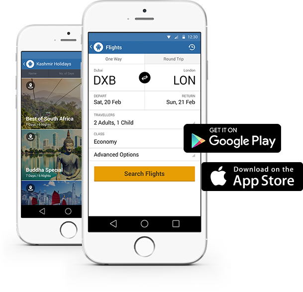 Which mobile platforms are used by top internet booking engine