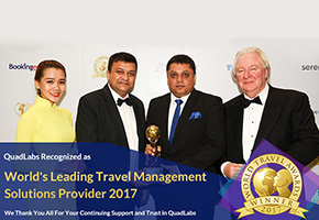 World's Leading Travel Management Solutions Provider award in Award & Recognition